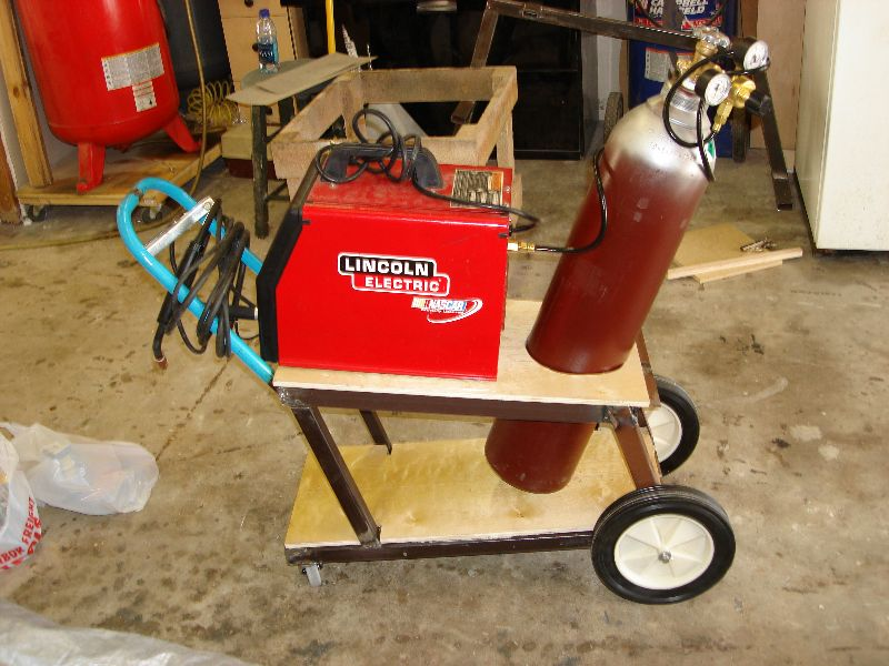 Frivolous At Heart » Homemade Welder Cart